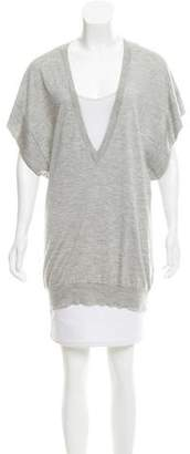 Brunello Cucinelli Plunge-Neck Cashmere Sweater