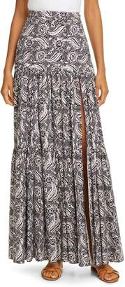 Veronica Beard Serence Batik Print Cotton Maxi Skirt