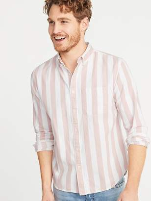 Old Navy Slim-Fit Striped Twill Everyday Shirt for Men