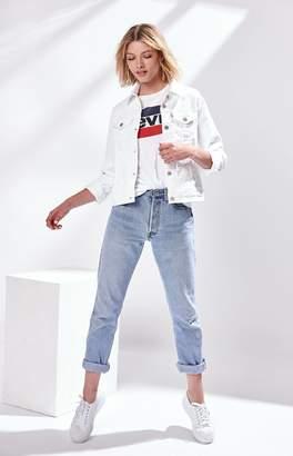 Levi's White Original Trucker Jacket