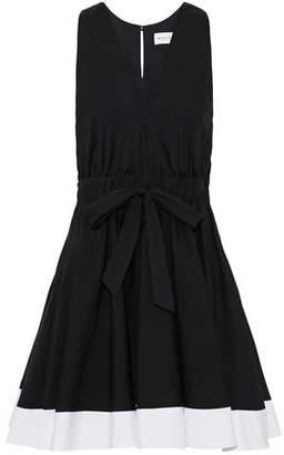 Milly Lola Gathered Cotton-Blend Poplin Dress