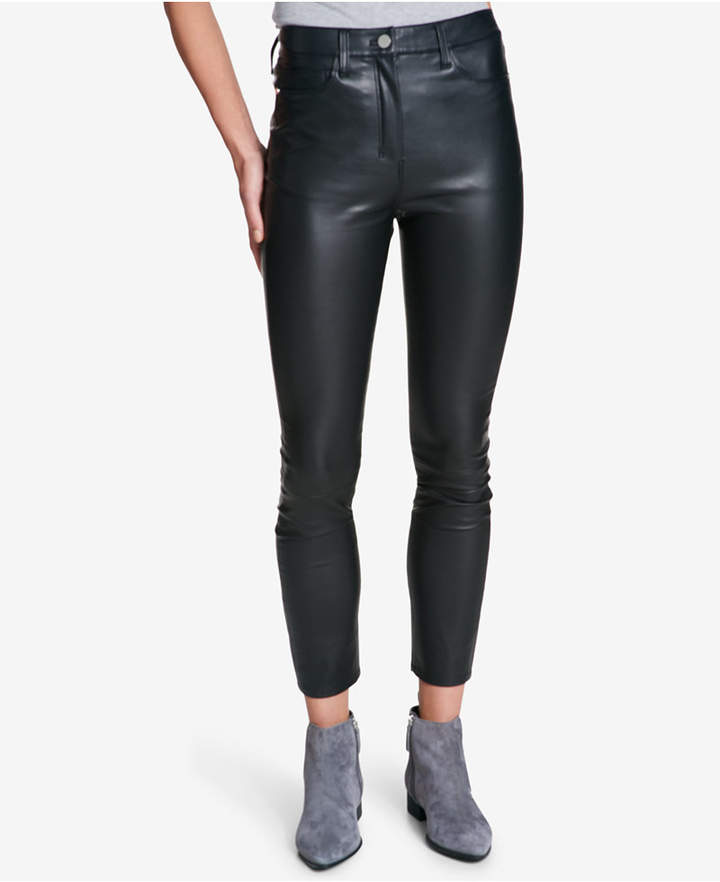 Dkny Stretch Faux-Leather Pants