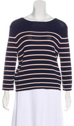 360 Sweater Striped Three-Quarter Sleeve Sweater w/ Tags