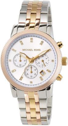 MICHAEL Michael Kors 38mm Ritz Chronograph Bracelet Watch Tricolor