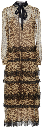 Red Valentino Tiered Leopard Dress $2,395 thestylecure.com