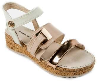 Mayoral Girls Cork-Platform Sandals