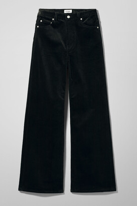 Weekday Ace Corduroy Trousers - Black