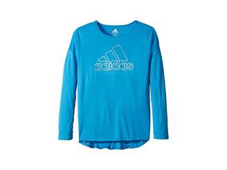 adidas Kids Long Sleeve Graphic Tee (Big Kids)