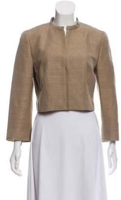 Akris Punto Silk Cropped Jacket Khaki Silk Cropped Jacket