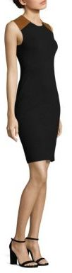 Polo Ralph Lauren Leather-Trim Sheath Dress $598 thestylecure.com