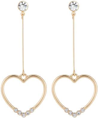 Natasha Accessories Limited Open-Heart Drop Earrings