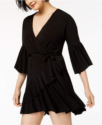 French Connection Ruffled Wrap Dress