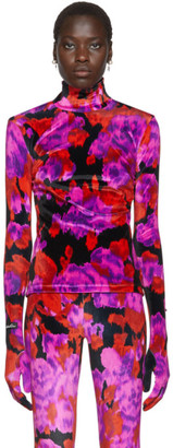 Richard Quinn Red Floral Turtleneck