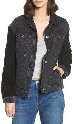 Levi's Trucker Jacket with Fleece Sleeves