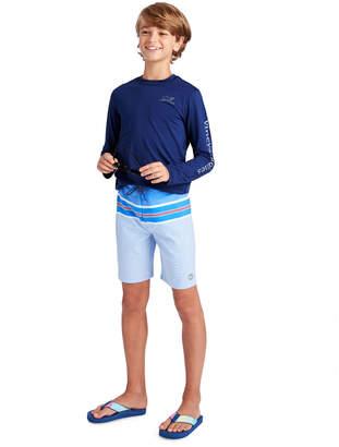 Vineyard Vines Boys Birchcliff Stripe Board Shorts
