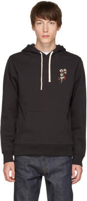 Saturdays NYC Black Ditch Poppy Logo Hoodie
