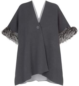 D-Exterior D.Exterior Fur Cuff Poncho