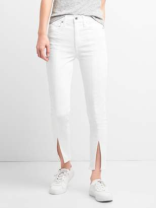 Gap High Rise True Skinny Ankle Jeans with Slit Hem