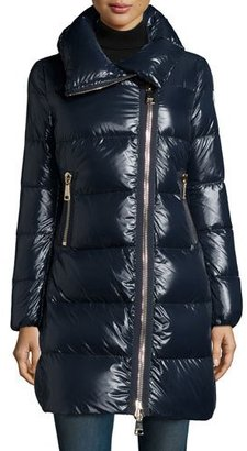 Moncler Joinville High-Collar Puffer Jacket, Navy $1,630 thestylecure.com