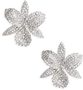 Nina Large Orchid Swarovski Crystal Stud Earrings