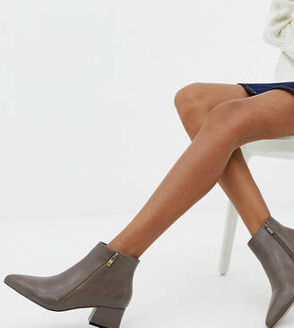 d9531510705 Park Lane Wide Fit Pointed Side Zip Boots