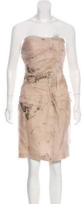 J. Mendel Silk Embellished Dress Champagne Silk Embellished Dress