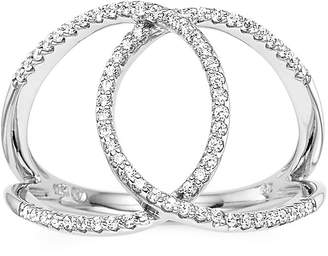 FINE JEWELRY 1/4 CT. T.W. Diamond 10K White Gold Interlocking Circle Ring