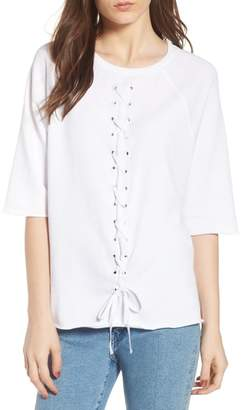 South Parade Julie - Vertical Eyelets Terry Top