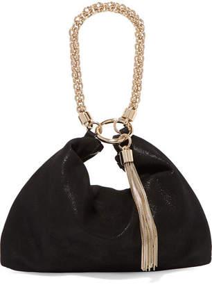 Jimmy Choo Callie Suede Shoulder Bag - Black