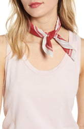 Rebecca Minkoff Shadow Leaf Cotton Bandana
