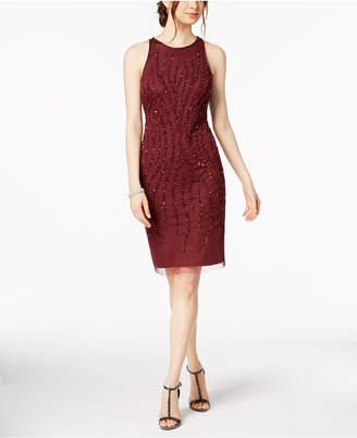 Adrianna Papell Sleeveless Beaded Dress
