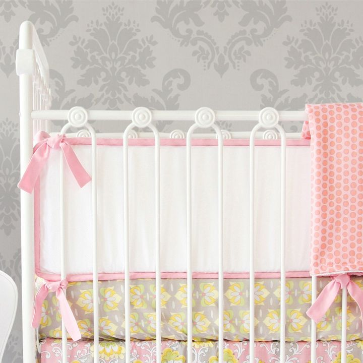 Caden Lane Caden Lane® Amy's Garden 4-Piece Double-Sided Bumpers in Pink