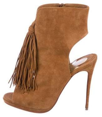 Christian Louboutin Suede Ankle Booties