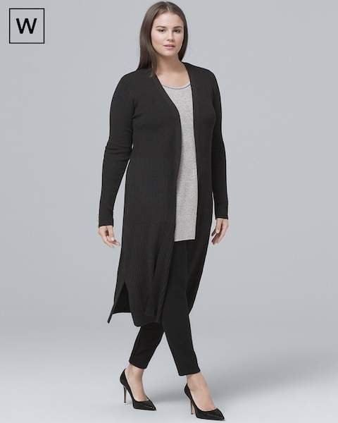 Whbm Plus Ribbed Duster