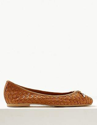 Marks and Spencer Wide Fit Leather Pumps