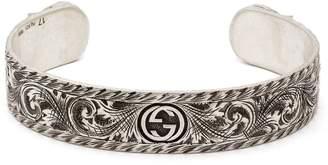 Gucci Tiger-head sterling-silver cuff bracelet