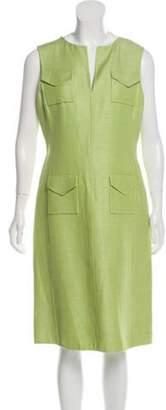 Oscar de la Renta Sleeveless Midi Dress Lime Sleeveless Midi Dress