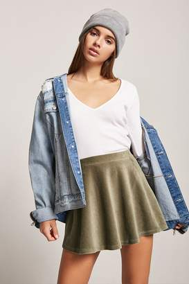 Forever 21 Corduroy Skater Skirt