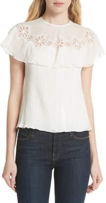 Rebecca Taylor Pinwheel Silk & Cotton Top