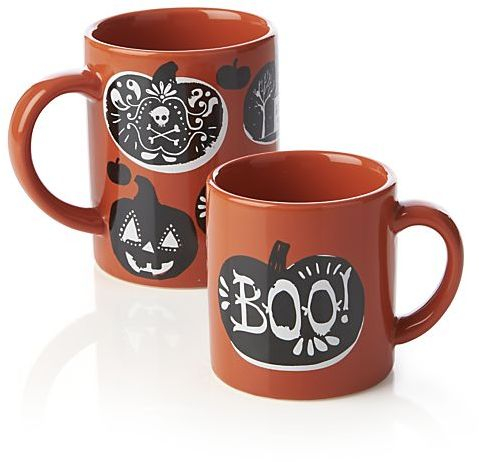 Crate & Barrel Halloween Mug. 14 oz.