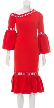 Jonathan Simkhai Midi Length Dress w/ Tags Orange Midi Length Dress w/ Tags