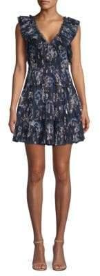 Rebecca Taylor Silk Tiered Ruffle Dress