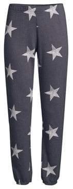 Monrow Star Print Sweatpants