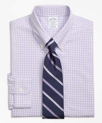 Brooks Brothers Regent Fitted Dress Shirt, Non-Iron Twin Gingham