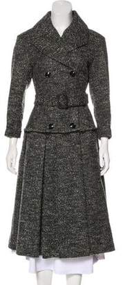 Burberry Tweed Long Coat