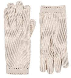 Barneys New York Women's Woven Cashmere Gloves - Oatmeal (Sphinx)