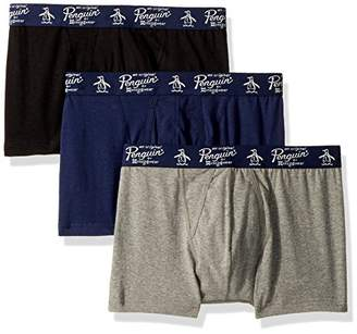 Original Penguin Men's 3 Pack Basic Knit Cotton Trunk