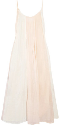 Reve Cotton-gauze Midi Dress - Baby pink