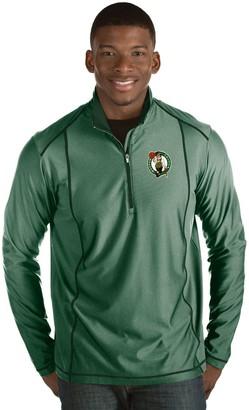 Antigua Men's Boston Celtics Tempo Quarter-Zip Pullover