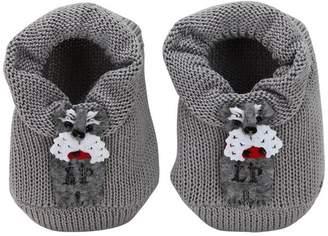La Perla Cotton Knit Socks W/ Dog Appliqués